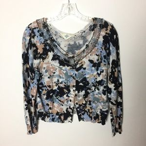 Anthropologie Sweaters - ANTHROPOLOGIE Jeweled Petals Cardigan by Monogram